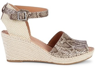 Gentle Souls Celisse Leather Wedge Espadrille Sandals