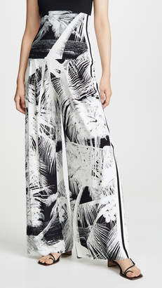 Norma Kamali Side Stripe High Waist Pleat Pants