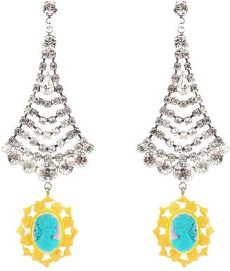 Tom Binns Multicolour Crystal Earrings
