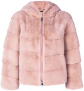Manzoni 24 - hooded jacket - women - Mink Fur - 42