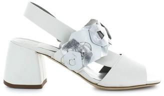 Ixos White Sandal With Decorations