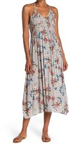 Thumbnail for your product : Angie Floral Ruched Bodice Cutout Back Midi Dress