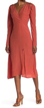 NSR Bridget Wrap Midi Dress