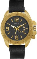 GUESS GUESS? W0659G2,Men's Multifunction Dial,Stainless Steel case,Leather Strap,WR