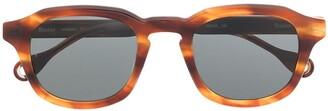 Études Minimal tortoiseshell sunglasses