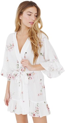 Plum Pretty Sugar White Flutter Robe