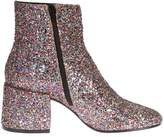 MM6 MAISON MARGIELA Glittered Leather Ankle Boots