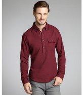 Just A Cheap Shirt mulberry cotton flannel 'Newton' button down shirt