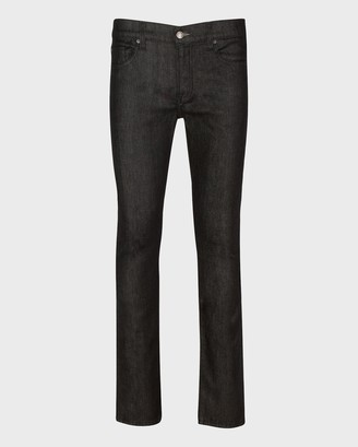 7 For All Mankind No-Fade Paxtyn Skinny in Raw Black