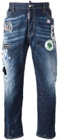 DSQUARED2 Workwear patch detail jeans - men - Cotton/Spandex/Elastane - 48
