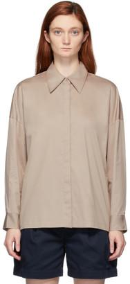 Tibi Beige Eco Poplin Oversized Shirt