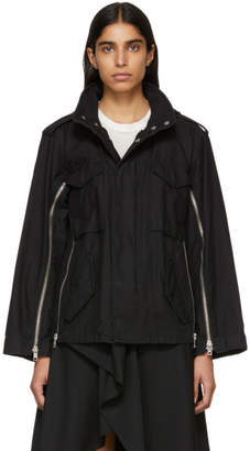 3.1 Phillip Lim Black Zippered Field Jacket