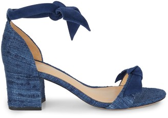 Alexandre Birman Clarita Tweed & Suede Block-Heel Sandals