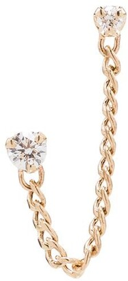 Zoë Chicco 14kt Gold Diamond Stud Chain Earring