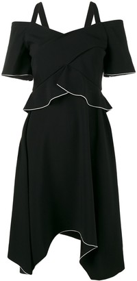 Proenza Schouler Off-Shoulder Asymmetric Dress