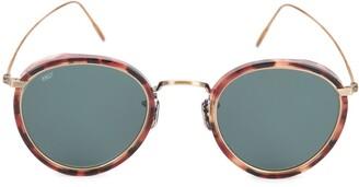 Eyevan 7285 Round Tortoiseshell Sunglasses