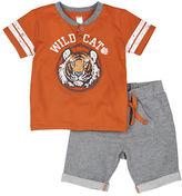 Petit Lem Baby Boys Two-Piece Tiger T-Shirt and Shorts Set