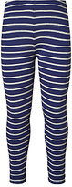 John Lewis Girls' Striped Leggings, Blue