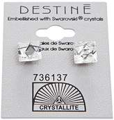 Crystallite Crystal Pointed Square Earring