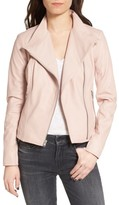 Andrew Marc Women's Felicia Asymmetrical Zip Leather Jacket