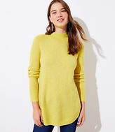 Petite Mock Neck Tunic Sweater