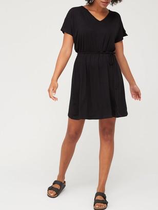 Very Kimono Sleeve Jersey Cover Up - Black