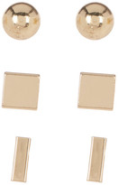 Cara Accessories Bar Stud Earring Set