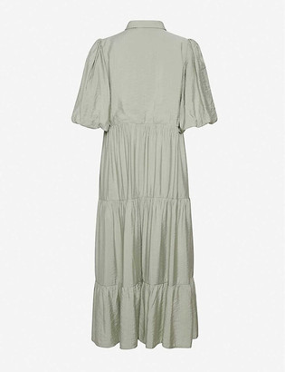 Gestuz Kirita ruffled crepe dress
