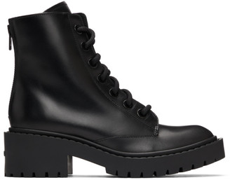 Kenzo Black Pike Lace-Up Boots
