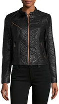 Andrew Marc George Faux-Leather Jacket, Black
