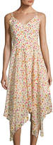 Romeo & Juliet Couture Floral-Print Handkerchief-Hem Dress, Multi Pattern