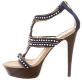 Rene Caovilla Beaded Platform Sandals