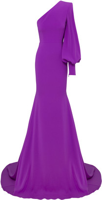 Alex Perry Marin Satin Crepe One-Shoulder Gown