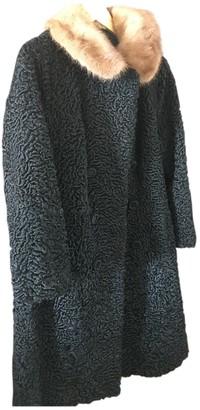 Astrakhan Non Signe / Unsigned Black Coat for Women Vintage