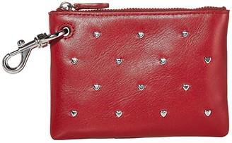 Rebecca Minkoff Clip Pouch w/ Heart Studs (Cardinal) Wallet