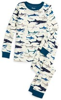 Hatley Boy's Toothy Sharks Organic Cotton Fitted Two-Piece Pajamas