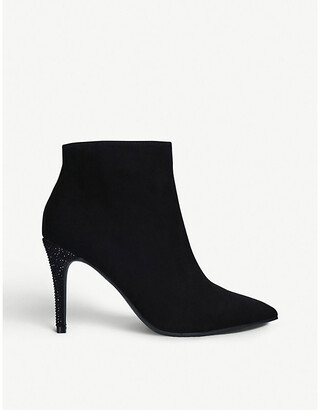 Fizzy faux-suede stiletto ankle boots