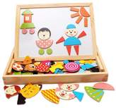 Sealive Popular Educational Toy Wooden Easel Toys Board Puzzles 90 Pieces Games Magnetic Puzzle Sketchpad Jigsaw Game For Children Gift