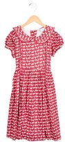 Rachel Riley Girls' Fox Print Short Sleeve Dress