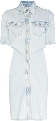 Off-White Button-Down Denim Mini Dress