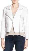 Rebecca Minkoff Women's 'Wes' Linen Blend Moto Jacket
