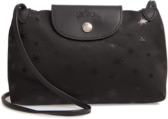 Longchamp Mini Le Pliage Etoiles Jacquard Canvas Crossbody Bag