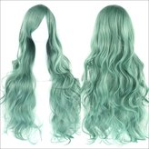 Tsmine Curly Wig-Womens Girls Fashion Wavy Curly Long Hair Party Cosplay Full Wig