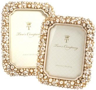 Unbranded Set of 2 Jeweled Photo Frames