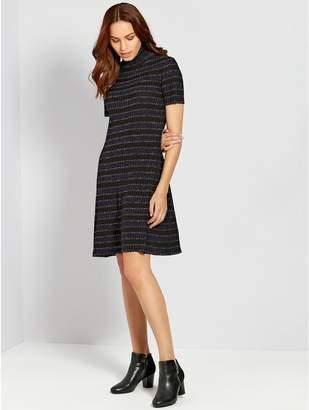 M&Co Stripe glitter knit dress