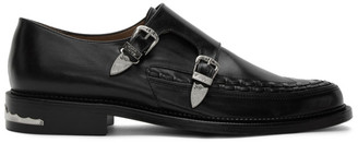 Toga Virilis Black Leather Buckle Monkstraps