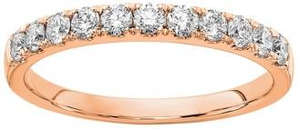 Fire Light Lab Grown Diamond 14K Wedding B and, 1/2 cttw