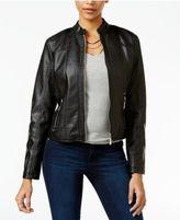 Joujou Jou Jou Juniors' Perforated Faux-Leather Jacket