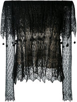 Alexander McQueen lace off the shoulder top