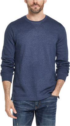 Weatherproof Vintage Men Waffle Knit Long-Sleeve T-Shirt